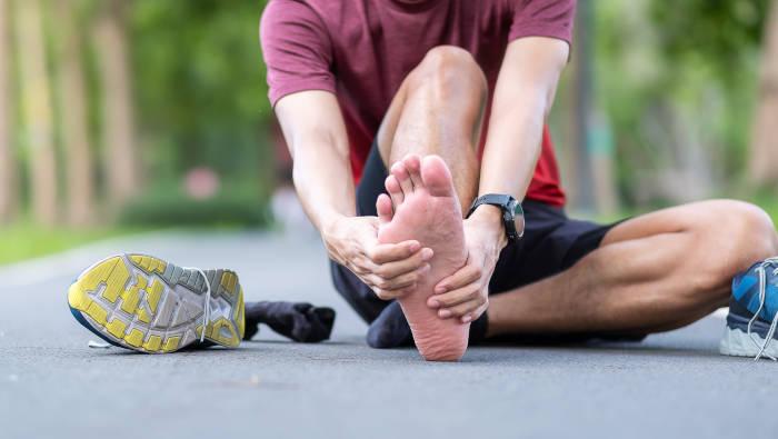 Fußschmerzen stören beim Training